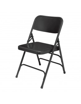 Rhino™ Metal Folding Chair, Black