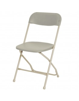 Rhino™ Plastic Folding Chair, Metal Frame, Bone