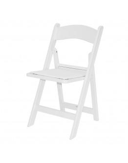 Resin Folding Chair, White