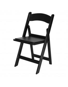 Resin Folding Chair, Black