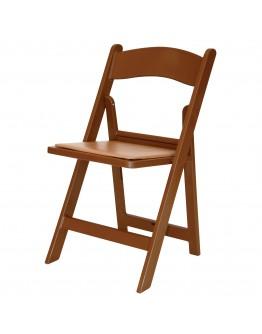 Resin Folding Chair, Brown