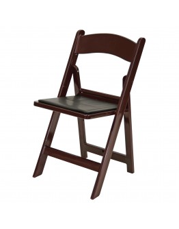Resin Folding Chair, Mahogany