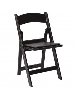 Resin Folding Chair, Black
