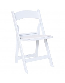 Resin Folding Chair, White