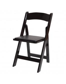 Wood Folding Chair, Black