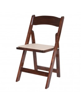 Wood Folding Chair, Fruitwood