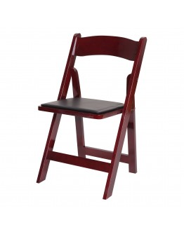 Wood Folding Chair, Mahogany