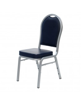 Stacking Banquet Chair, Navy Blue