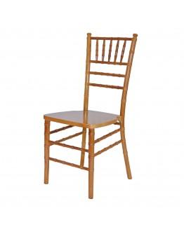 Chiavari Wood Chair, Natural, Ivory Cushion