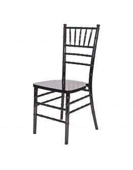 Chiavari Wood Chair, Black, Black Cushion