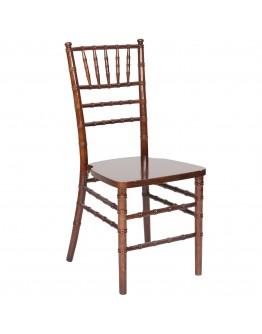 Chiavari Wood Chair, Fruitwood, Ivory Cushion