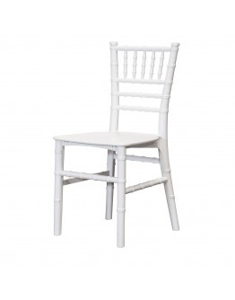 Children's Chiavari Resin Chair, White