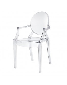 Phantom Resin Chair, Arms, Clear