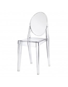 Phantom Resin Chair, no Arms, Clear