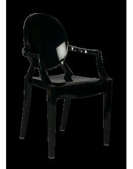 Phantom Resin Chair, Arms, Black
