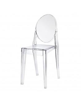 Phantom Resin Chair, no Arms, Clear