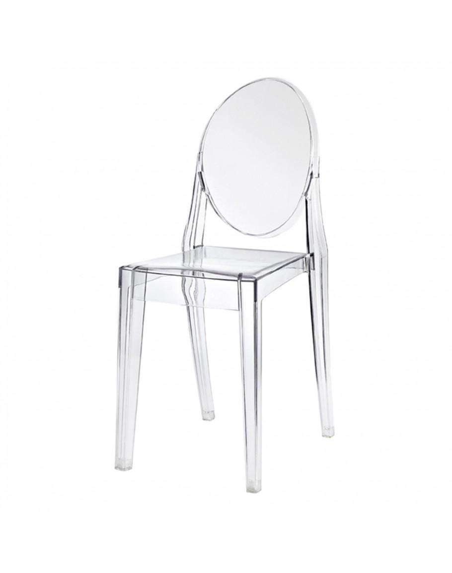Phantom Chair resin chair no arms clear
