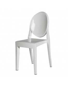 Phantom Resin Chair, no Arms, White