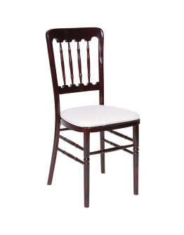 Versailles Banquet Wood Chair, All Colors, Cushion