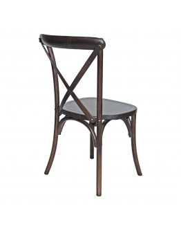 Lucca X-Back Wood Chair, Antique