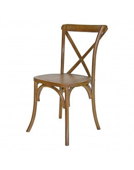Lucca X-Back Wood Chair, Rustic