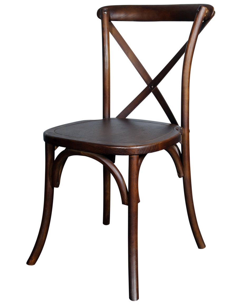 - Lucca X-Back Wood Chair, Antique
