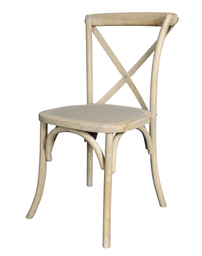 Lucca X-Back Wood Chair, Natural