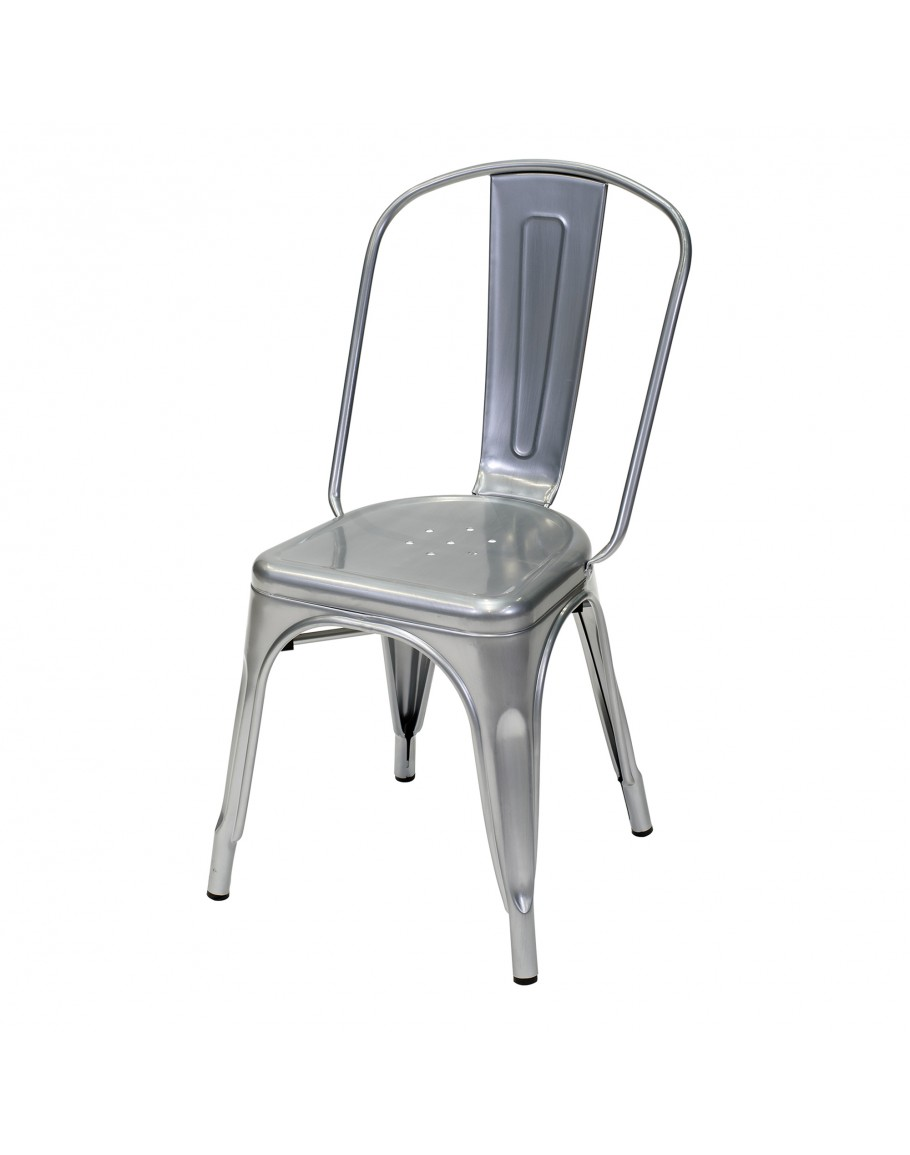 Engrom Metal Chair Gunmetal Grey For Sale