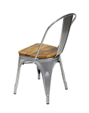 engrom Metal Chair, Gunmetal Grey