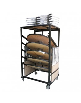 36 Inch Cocktail Table Dolly Cart, Black