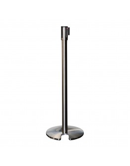 Retractable Stanchion, Brushed Stainless