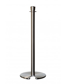 Rope Post - Crown Head Stanchion, Brushed Stainless