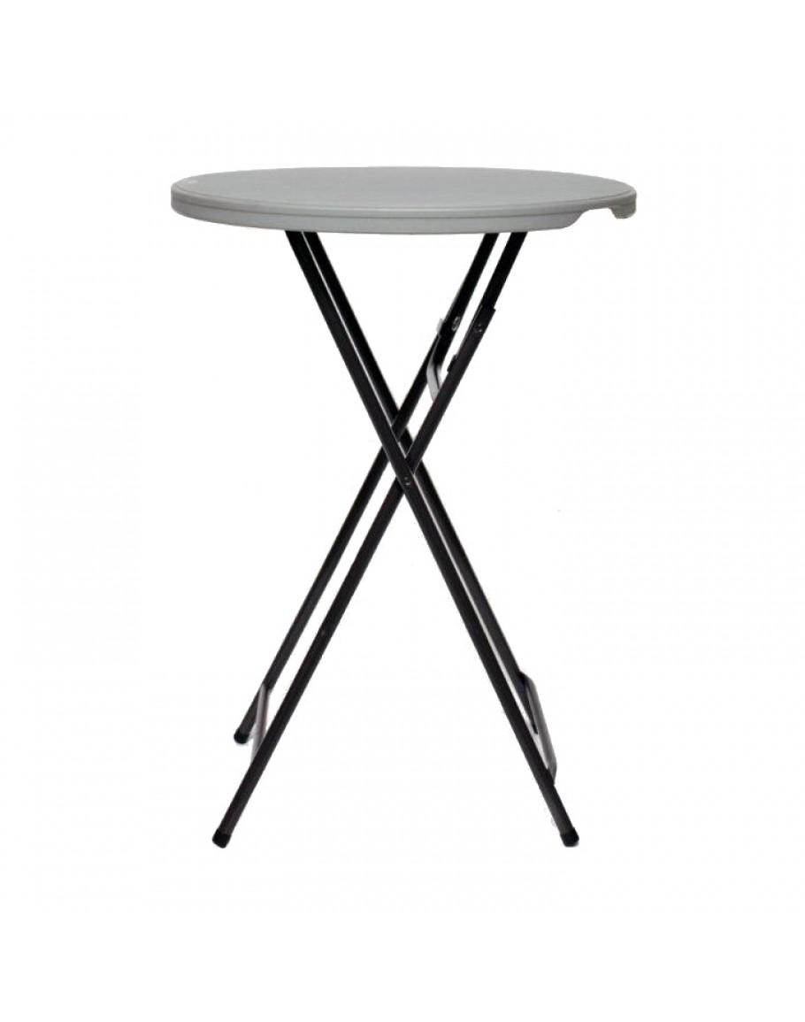 32 Inch Round Resin Cocktail Table Folding Legs For Sale