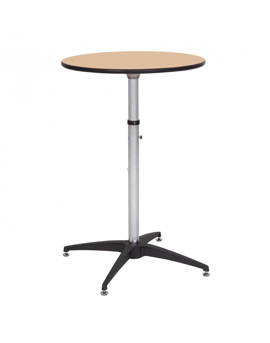 30 Inch Round Wood Cocktail Table Kit Adjustable Post Heights