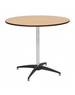 Genial 36 Inch Round Wood Cocktail Table Kit, Metal Edging