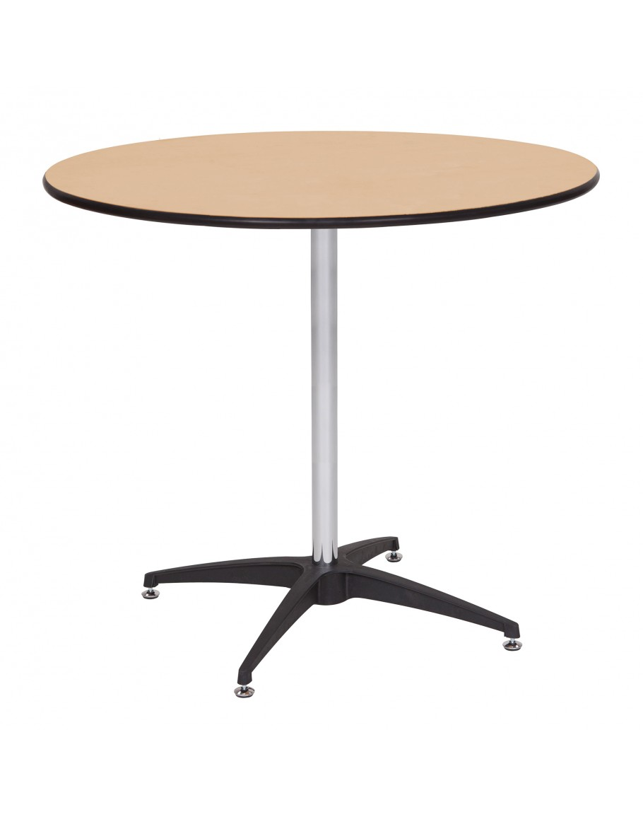 Inch Round Wood Cocktail Table Kit Metal Edging - 36 inch round cocktail table