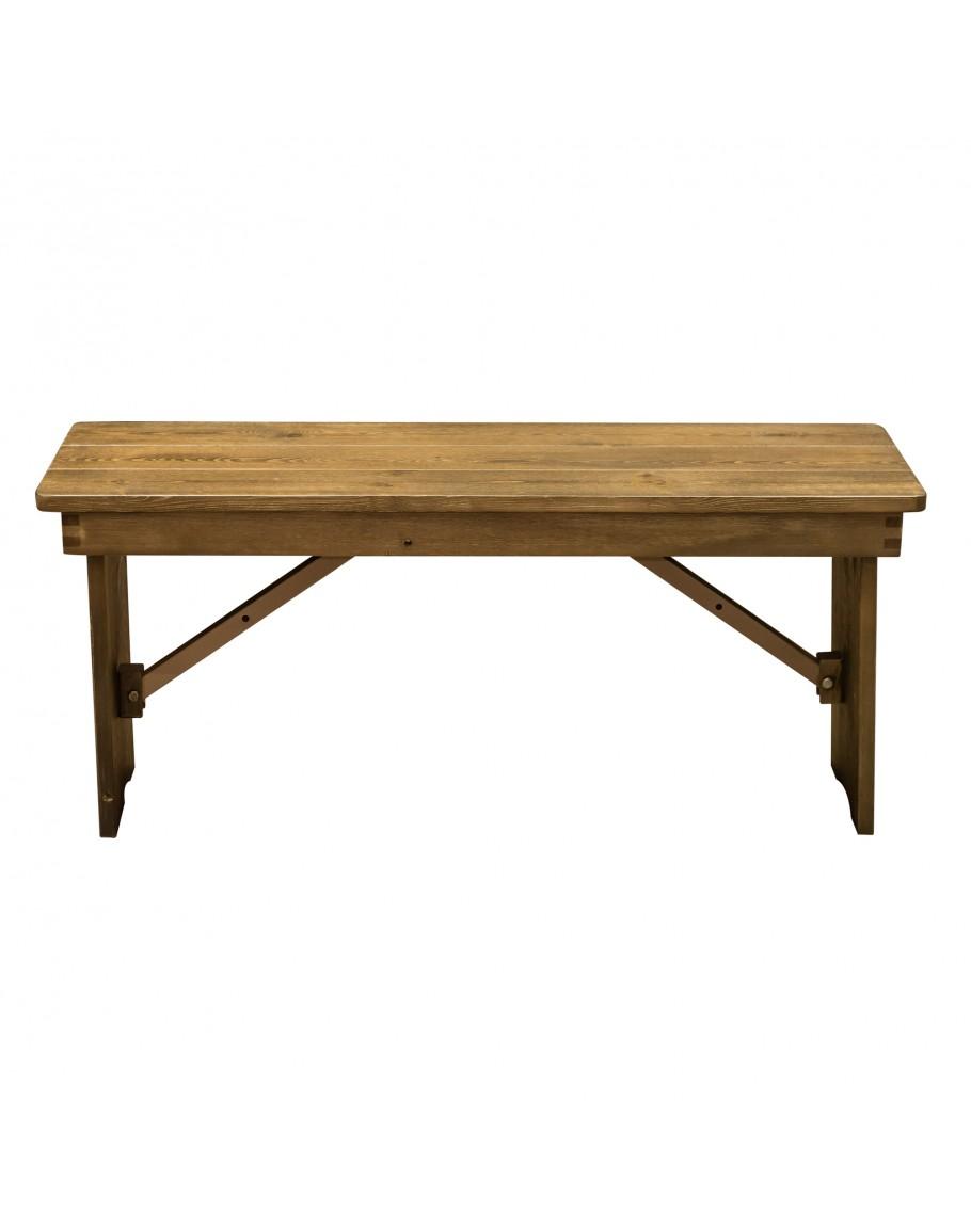 Tremendous 40 X 12 Pine Wood Farm Bench Folding Legs Rustic Machost Co Dining Chair Design Ideas Machostcouk