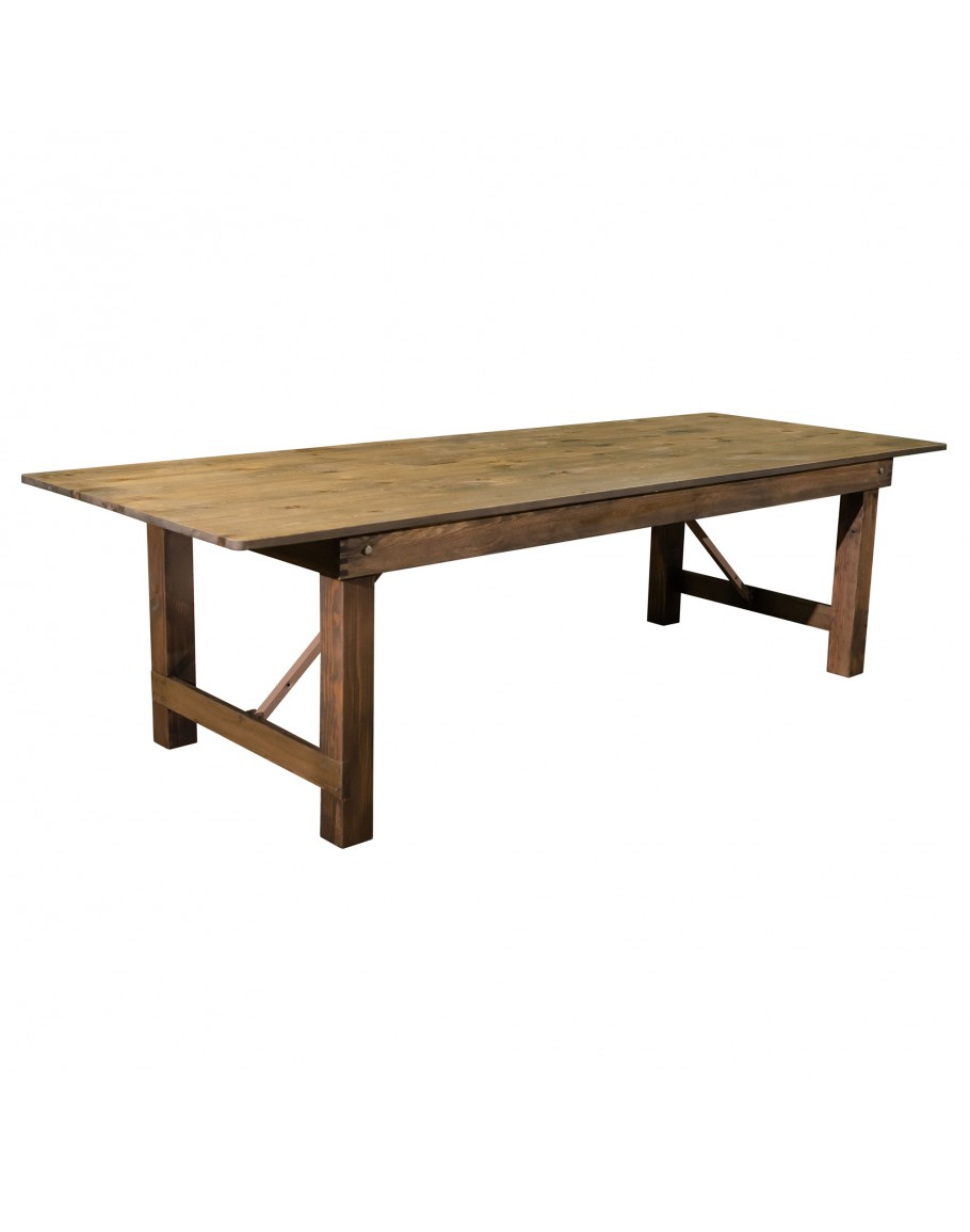 108 Quot X 40 Quot Banquet Pine Wood Farm Table Rustic