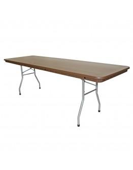 8 Foot Rhino™ Banquet Resin Folding Table, Brown