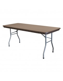 6 Foot Rhino™ Banquet Resin Folding Table, Brown