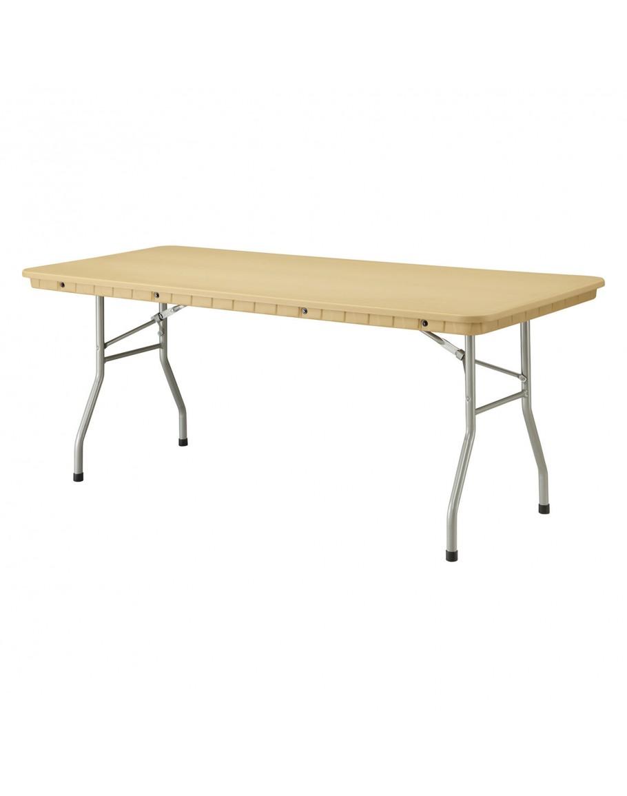 6 Foot Rhino Banquet Resin Folding Table Tan