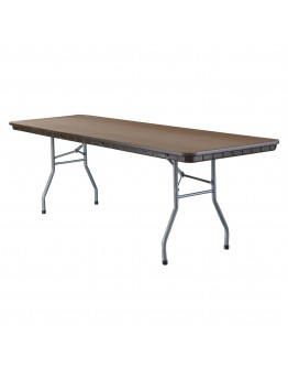 8 Foot Rhino™ Banquet Resin Folding Table, Brown