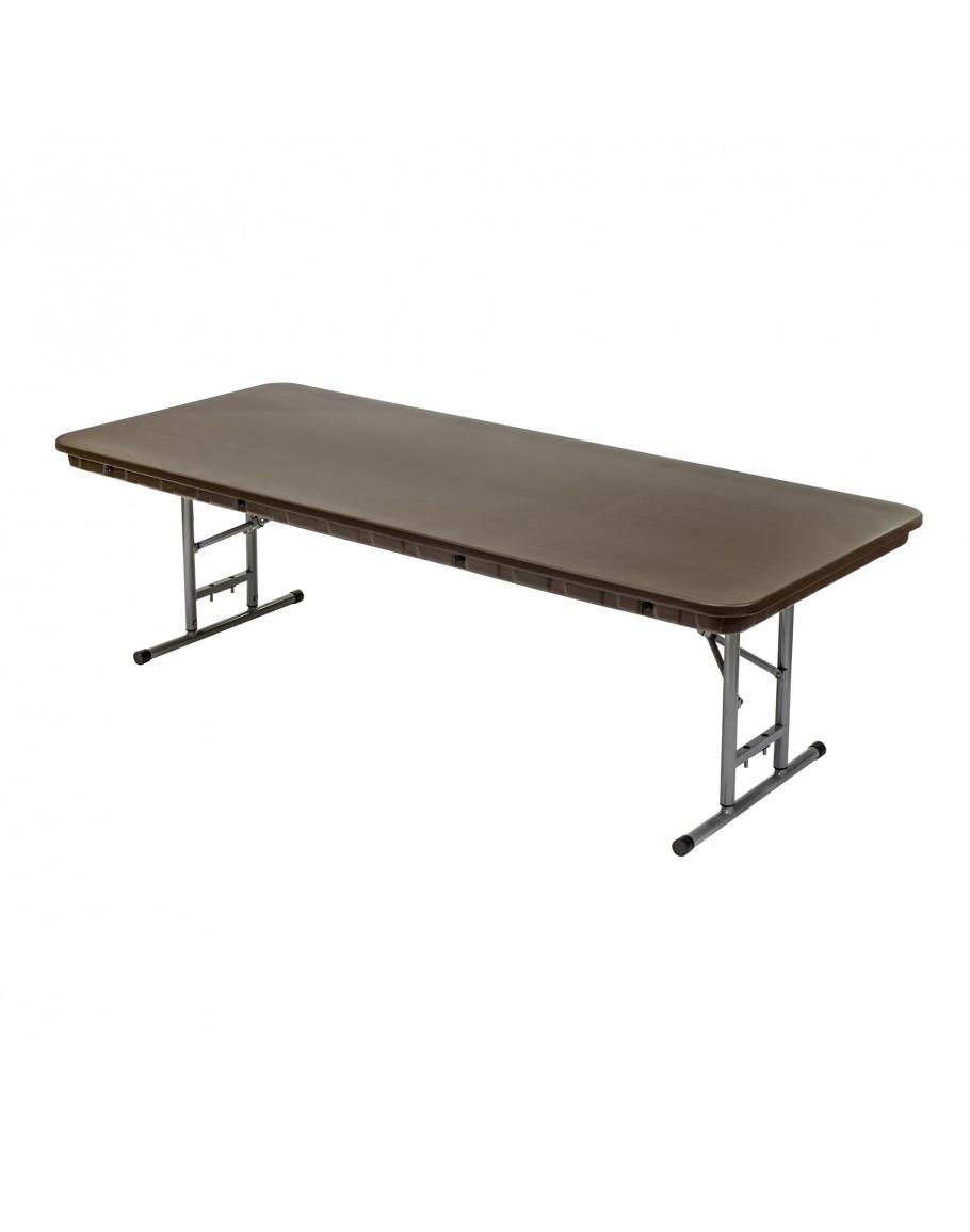 6 foot rhino children 39 s adjustable banquet resin folding table brown. Black Bedroom Furniture Sets. Home Design Ideas