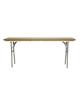 6 Foot Conference Wood Folding Table, Vinyl Edging
