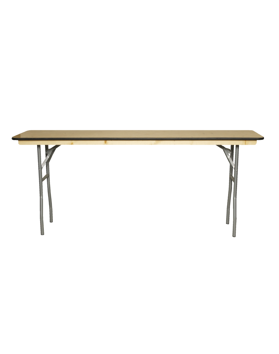 Foot Conference Wood Folding Table Vinyl Edging - 6 ft conference table
