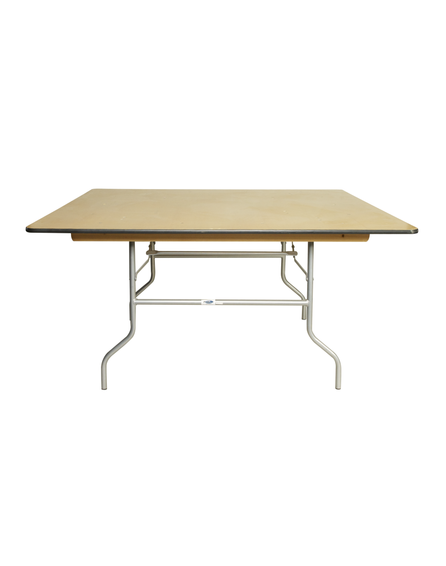 48 inch square wood folding table metal edging watchthetrailerfo