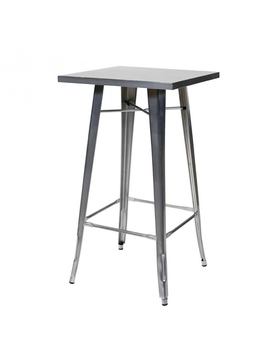 Engrom Square Metal Cocktail Table Set Gunmetal Grey